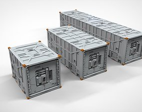 sci fi Cargo Container 1 3D model
