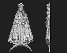 Virgen de la Caridad del Cobre Pendant 3D printable model