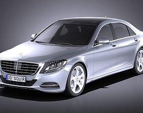 3D model Mercedes-Benz S-class 2016 VRAY