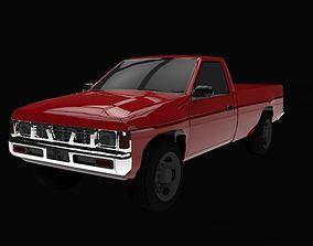 3D asset game-ready datsun pick-up 1993
