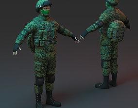 3D asset Russian Soldier