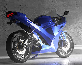 3D model rigged Motorcycle concept