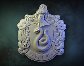 3D print model Slytherin House Crest