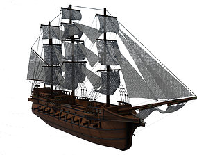 3D model adventure Pirate Ship