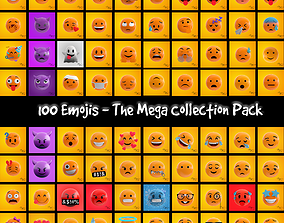 3D 100 Emojis Pack - The Mega Collection Bundle
