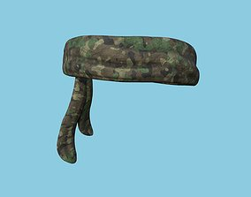 Forest Camouflage Bandana - Military Character 3D asset