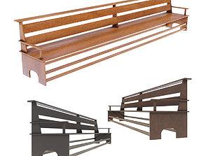 Large Bench Pew many PBR Optios 3D asset
