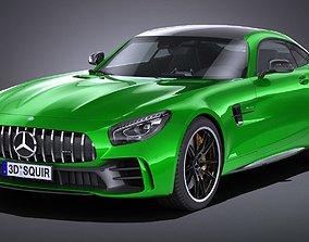LowPoly Mercedes AMG GT R 2017 3D asset