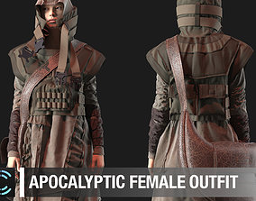 Apocalyptic female outfit Marvelous Designer project 3D