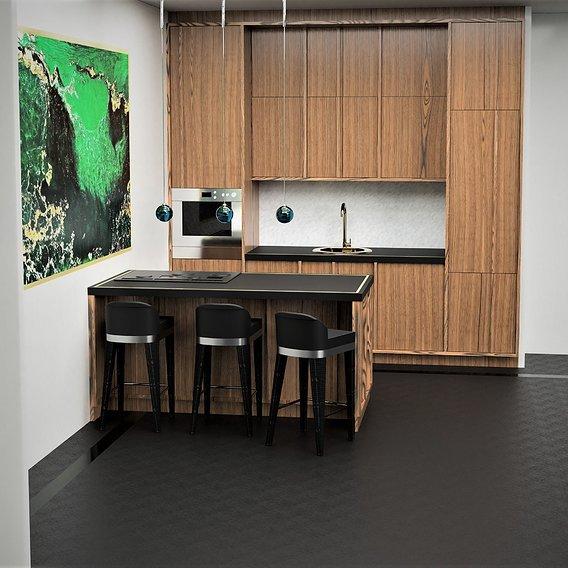 Kitchen project venered oak Mdf