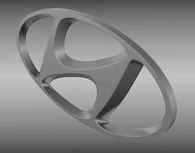 3D quality Hyundai logo