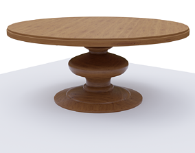3D model circulartable Round wooden table