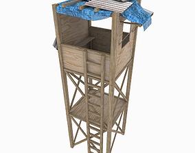 Watchtower textured 3D asset