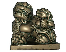 3D print model gypsy Lion bronze statue