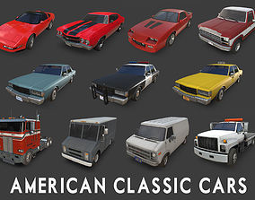 American Cars Collection 3D model