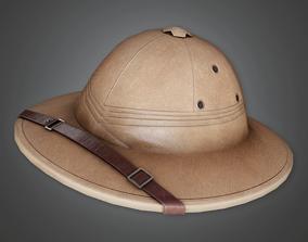 3D model HAT - Safari Hat Helmet - PBR Game Ready