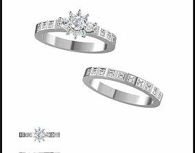 Minimalist bridal set rings for sale 3dm jewelry files