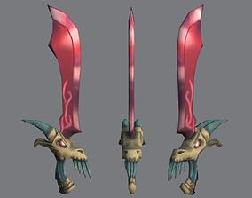 3D asset Stylized Dragon Sword
