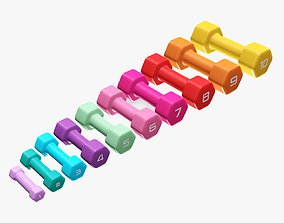 3D model Dumbbells hexagonal