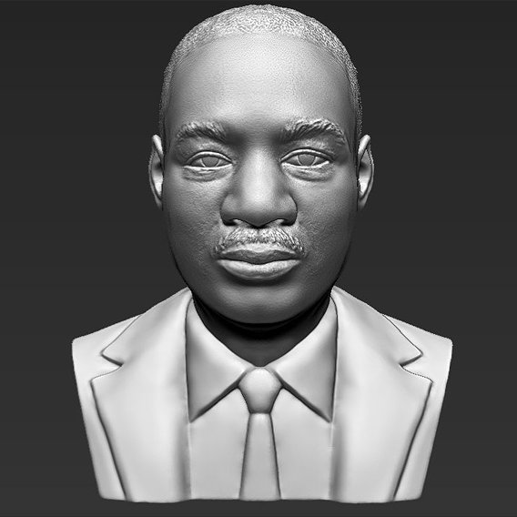 Martin Luther King bust for 3D printing