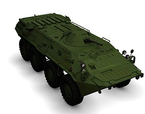 BTR-80 armored personnel carrier 3D