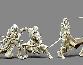 Dark side Bundle - 4 sith 35 mm scale 3D print model