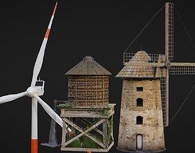 Windmills Pack 3D model