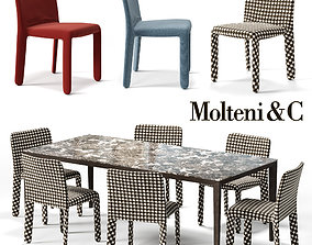 3D asset MOLTENI Glove-up Chair