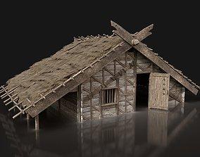 Viking Basic House Cottage Hut Northern Village 3D asset 2
