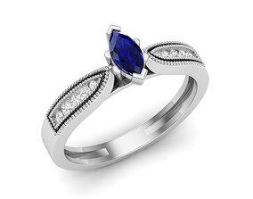 Diamond ring for woman engagement 3D printable model