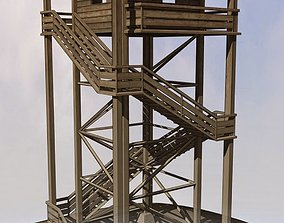 3D model Watch Tower made of Wood