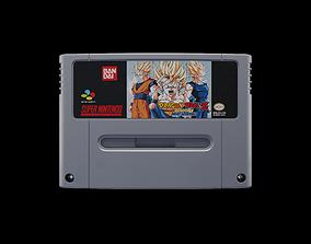 3D model Super Nintendo Cartridge