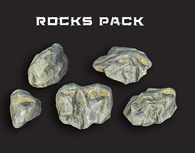 Rocks Pack 3D asset low-poly