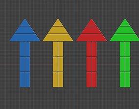 3D model Low poly arrow 52