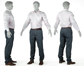 3D model Male Casual Outfit 45 Shirt Pants Shoes