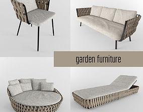 garden furniture collection 3D model