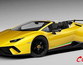 3D model Lamborghini Huracan Performante Spyder LP 640-4