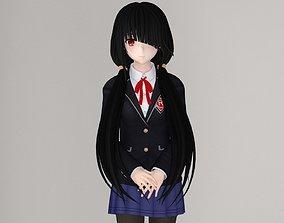 3D Kurumi Tokisaki anime girl pose 01