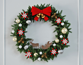 bell 3D model Christmas Wreath