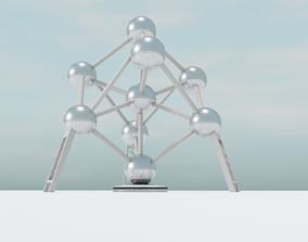 3D model low-poly Atomium