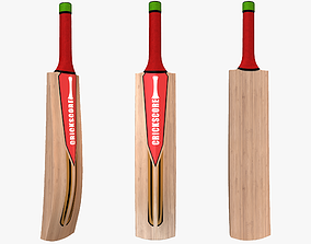 Cricket Bat 3D model low-poly