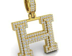 Alphabet Latter H Diamond Pendent 3d Model