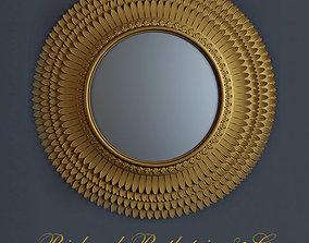 3D Sunburst Round Convex Mirror