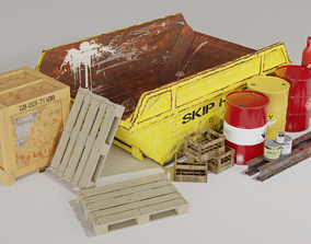 Industrial Props - Low poly PBR 3D