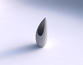 Vase Tsunami with horizontal layers 3D printable model