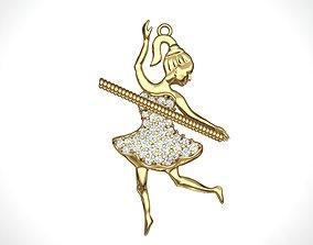 3D printable model Dancing Princess Pendant