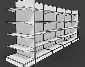 Supermarket shelves shelf or rack for store 3D model