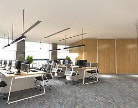3D modern office interior 02