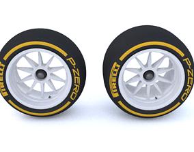 F1 2021 18 inch Tire 3D Model FIA Version VR / AR ready