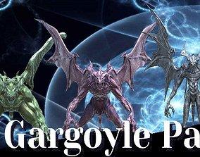 Gargoyle Low-Poly Pack 3D asset